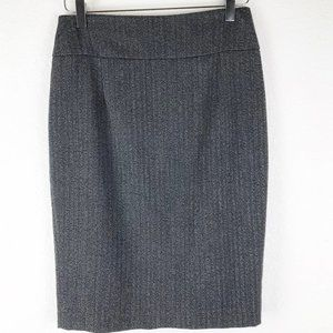 Mossimo Gray Pencil Skirt Lined Stretch Size 4